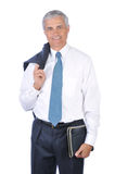 Middle aged Businessman Jacket over shoulder Stock Image