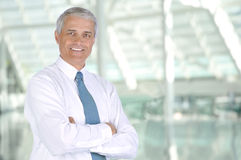 Middle aged Businessman Lobby of Modern Building Royalty Free Stock Images