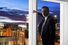 Hollywood Agent or Businessman in Los Angeles royalty free stock photography