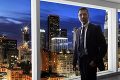 Hollywood Agent or Businessman in Los Angeles stock photos