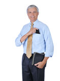 Middle Aged Businessman with PDA in Pocket Stock Photography