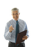 Middle aged Businessman Pointing Royalty Free Stock Photo