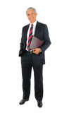 Middle aged Businessman with Portfolio Royalty Free Stock Images