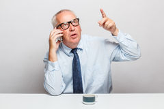 Middle-aged businessman Royalty Free Stock Photography