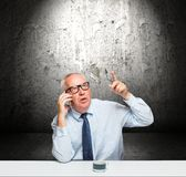 Middle-aged businessman Stock Images