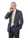 Middle aged Businessman Talking on Cell Phone Royalty Free Stock Image