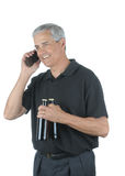 Middle aged Businessman With Two Beers Stock Photo