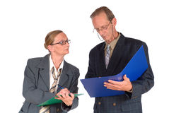 Middle aged businesspeople Stock Images