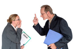 Middle aged businesspeople stock image
