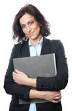 Middle aged businesswoman with file Stock Photography
