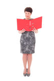 Middle aged businesswoman with folder Stock Images