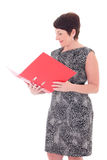 Middle aged businesswoman with folder Royalty Free Stock Photo