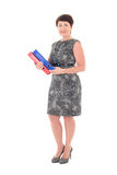 Middle aged businesswoman with folders Stock Photography