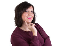 Middle Aged Businesswoman Looking at Your Eyes Royalty Free Stock Images