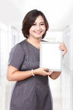 Middle aged businesswoman with tablet computer Stock Photography
