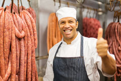 Middle aged butcher Stock Image