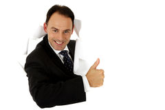 Middle aged caucasian businessman Stock Photos