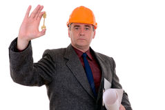 Middle-aged constructor Royalty Free Stock Photography
