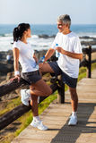 Middle aged couple beach Royalty Free Stock Photos