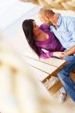 Middle-aged couple on a beach Stock Photos