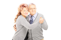 Middle aged couple dancing Royalty Free Stock Images