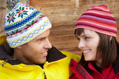 Middle Aged Couple Dressed For Cold Weather Stock Image
