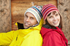 Middle Aged Couple Dressed For Cold Weather Royalty Free Stock Photography