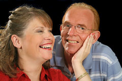 Middle Aged Couple Holding Royalty Free Stock Photography