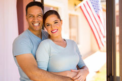 Middle aged couple hugging Stock Photos