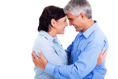 Middle aged couple hugging Royalty Free Stock Photo