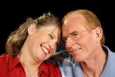Middle Aged Couple Laughing Royalty Free Stock Images