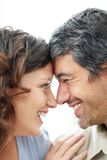 Middle aged couple in love again Royalty Free Stock Photography