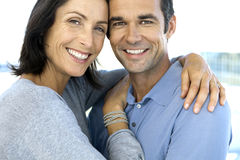 Middle-aged couple in love Stock Images