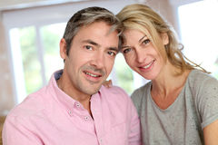 Middle-aged couple in love Royalty Free Stock Photography