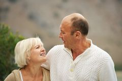 Middle aged couple outdoors Royalty Free Stock Image