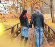 Middle-aged couple outdoors Stock Photos
