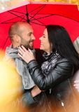Middle-aged couple outdoors on autumn day Stock Photo