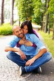 Middle-aged couple outdoors Stock Images