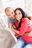 Middle-aged couple outdoors Royalty Free Stock Image