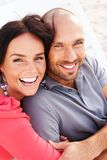 Middle-aged couple outdoors Royalty Free Stock Photos
