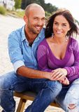 Middle-aged couple outdoors Royalty Free Stock Photo