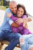 Middle-aged couple outdoors Stock Photo