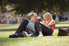 Middle Aged Couple In Park Royalty Free Stock Photography