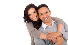 Middle aged couple. Portrait of middle aged couple on white background Royalty Free Stock Photos