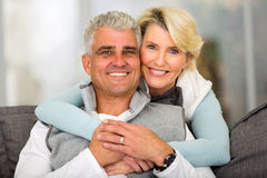 Middle aged couple relaxing Royalty Free Stock Photos
