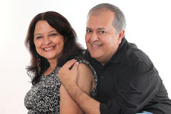 Middle aged couple. In their forties royalty free stock photos