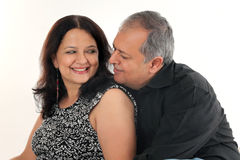 Middle aged couple. In their forties stock photos