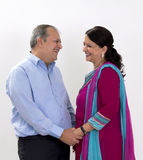 Middle aged couple. In their forties royalty free stock images