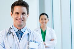 Middle-aged doctor Stock Image