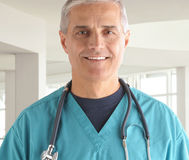 Middle aged Doctor portrait Stock Image